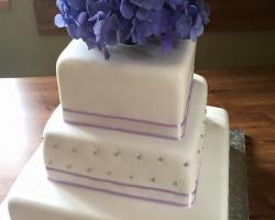 fialov∞_svatební_dort